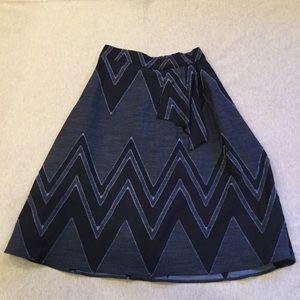 Eva Franco cotton linen blend midi skirt